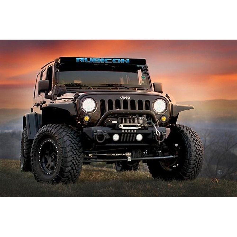 Aerolidz 52 Rubicon Insert For Dual Row Light Bar Silencer, Blue, Exterior Car Parts, AXI-RUBB52