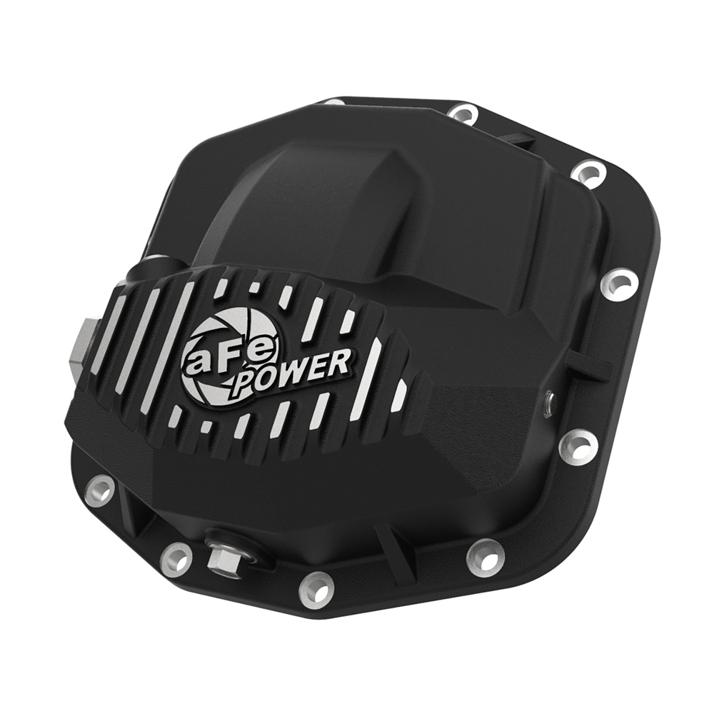 Afe Pro Series Front Differential Cover, Dana M210, Black With Machined Fins   2018-2020 JL/JLU/JT,