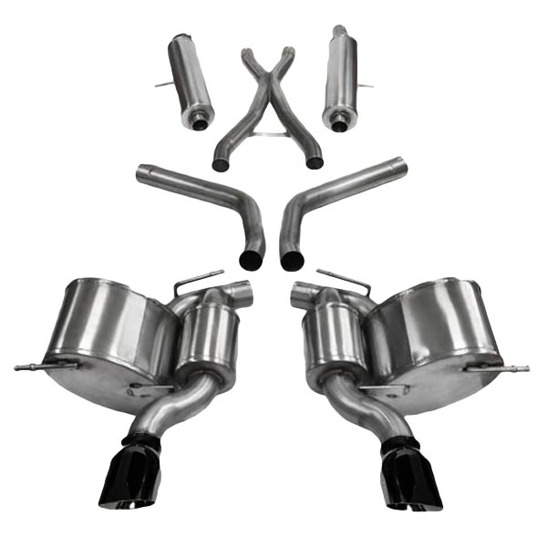 """Image of Corsa 2.75"""" Sport Cat-Back Exhaust System With Dual Rear Exit 4.5"""" Black Pro-Series Tips"""