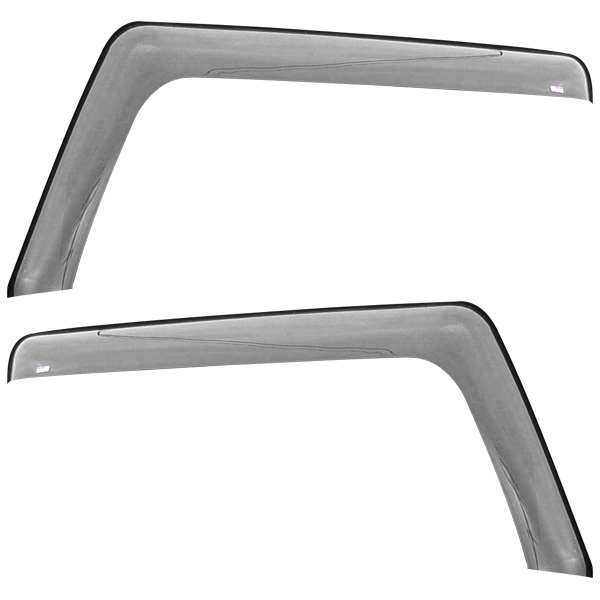 Image of Wade Automotive, In-Channel Wind Deflector 2 Pieces, High Gloss Smoke