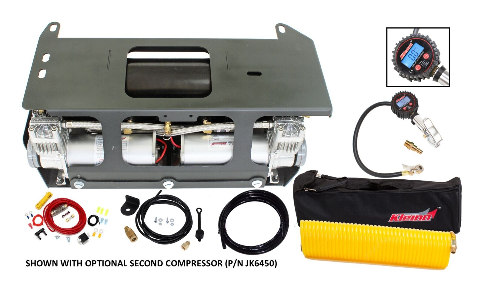 Image of Kleinn Air Horns Bolt-On Onboard Air System With Air Compressor And Tire Inflation Kit - Jku & Jlu