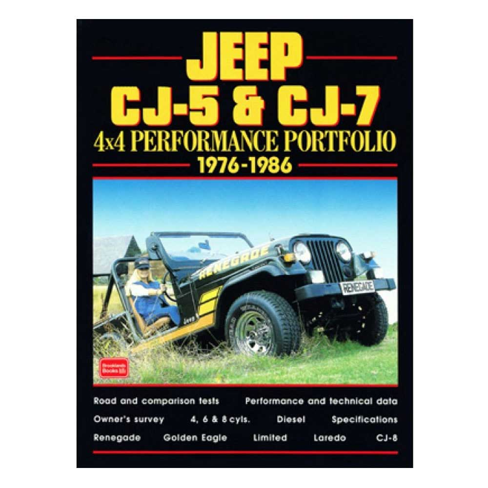 Fits: 1976-1983 Jeep Cj5 1976-1986 Jeep Cj7 Description: The Cartech Jeep Cj5 & Cj7 4X4 Performance Portfolio Contains Road Tests, Comparison Tests, Specification And Technical Data. This Portfolio Also Contains The Off-Road Reports And The New Model Introductions. Product Details: Pages: 140 Size: 8 X 10.75 (Inches) Format: Paperback Illustrations: 250 B/w Photos Publisher: Marston Book Services, Ltd Isbn: 9781855204188 Parts Included: (1) Cartech Manual - Jeep Cj5 & Cj7 4X4 Performance Portfolio Years Covered: 1976, 1977, 1978, 1979, 1980, 1981, 1982, 1983, 1984, 1985 And 1986