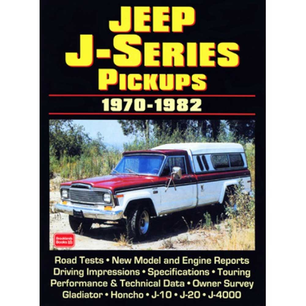 Fits: 1970-1982 Jeep J-Series Description: The Cartech Jeep J-Series Pickups Manual Contains Contemporary Road Tests, Technical Data, New Model Introductions, Driver's Impressions And Owner Survey. Product Details: Pages: 104 Size: 8 X 10.75 (Inches) Format: Paperback Illustrations: 200 B/w Photos Publisher: Marston Book Services, Ltd Isbn: 9781855204102 Parts Included: (1) Cartech Manual - Jeep J Series Pickups Years Covered: 1970, 1971, 1972, 1973, 1974, 1975, 1976, 1977, 1978, 1979, 1980, 1981 And 1982