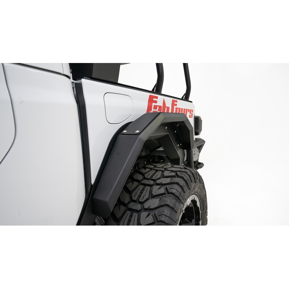 Jeep Fab Fours Jt Rear Fenders With Flares, Black, Pair, Exterior Car Parts | 2020 Gladiator JT,