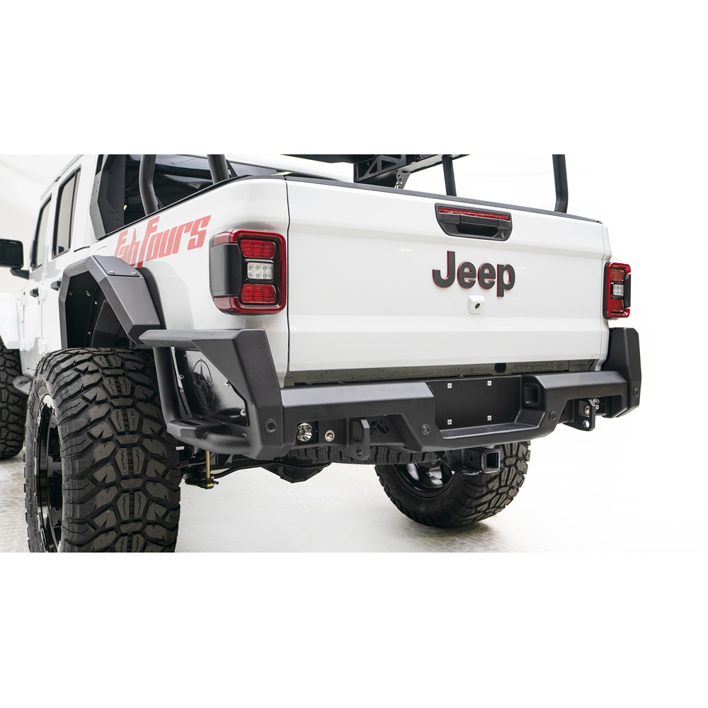 Jeep Fab Fours Jt Rear Bumper, Black, Exterior Car Parts | 2020 Gladiator JT, JT20-Y1950-1