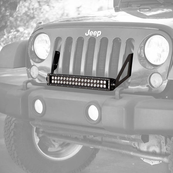 "Image of Kc Hilites 20"" C-Series C20 Led Light Bar With Grill Mount Bracket Kit, Combo Beam"