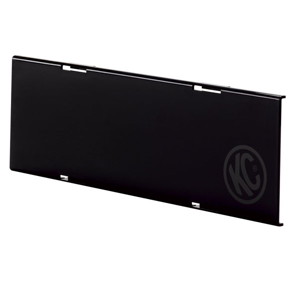 "Image of Kc Hilites 10"" C-Series Led Light Shield, Black - Sold Individually"