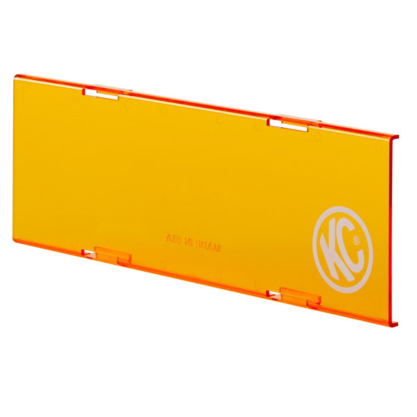 "Image of Kc Hilites 10"" C-Series Led Light Shield, Amber - Sold Individually"