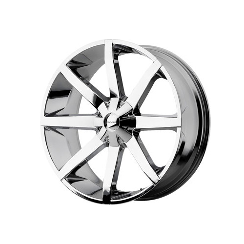"Image of Kmc Km651 Slide Series Wheel Chrome, 22X9.5"" 5X5"" Bolt Pattern, Back Spacing 5.8"""