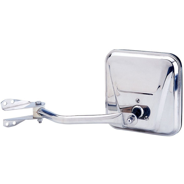 Image of Left Side Manual Mirror And Arm, Stainless Steel - Sold Individually