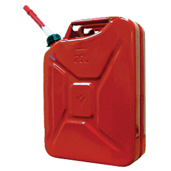 Image of Midwest Can Company Steel Gas Can With Spout, Red - 5 Gallon