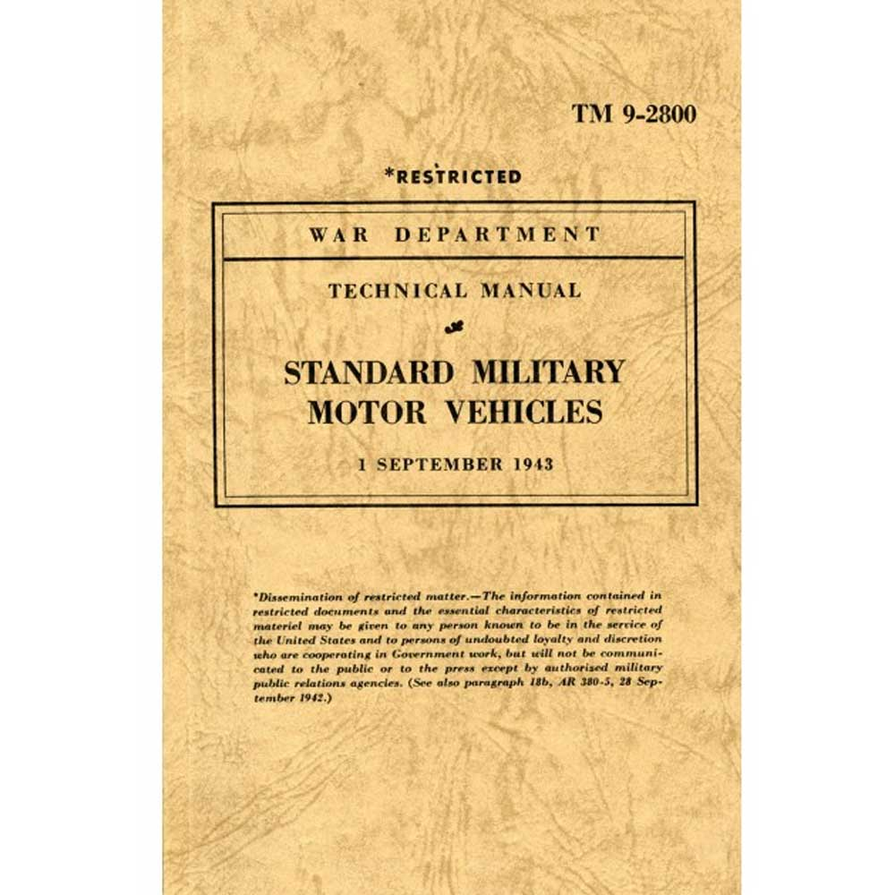 Fits: 1943 Jeep Mb 1943 Jeep Gpw Description: The Cartech Standard Military Motor Vehicles Technical Manual Was The Primary Us Army Reference Work Of The Period And Listed Data And Illustrations Of All Us Army Vehicles In Operation At That Time. Product Details: Pages: 590 Size: 5.125 X 8.5 (Inches) Format: Paperback Publisher: Marston Book Services, Ltd Isbn: 9781855207202 Parts Included: (1) Cartech Manual - Standard Military Motor Vehicles Technical Manual Years Covered: 1943