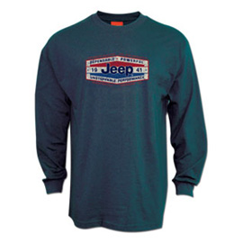 """Image of """"Jeep Long Sleeve Navy T-Shirt - """"""""dependable Power"""""""""""""""
