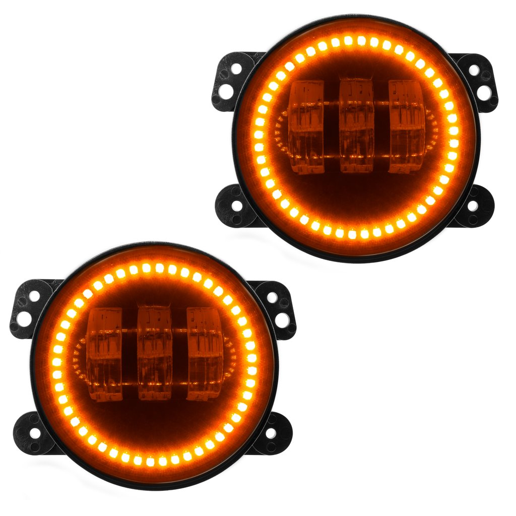 Image of Oracle High Powered Led Fog Lights, Amber - Pair