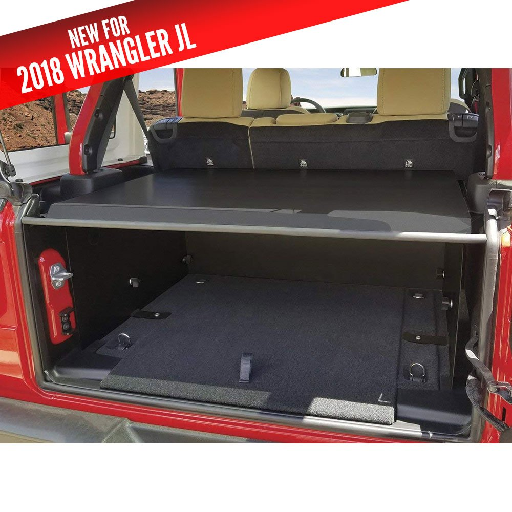 Jeep Tuffy Security Deck Enclosure Jlu, Black, Interior Car Parts | 2018 Wrangler Unlimited JL,