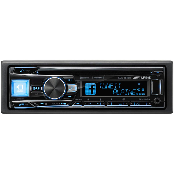 Alpine Cde-164Bt In-Dash Car Stereo With Cd/am/fm And Bluetooth, Interior Car Parts, ALP-CDE-164BT