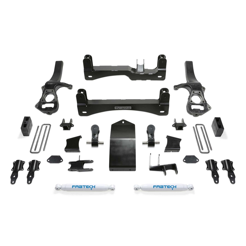 Fabtech 4 Basic System Lift Kit With Rear Performance Shocks, Suspension Parts | 2019 GMC &