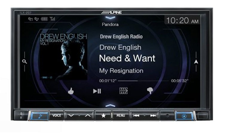 Alpine Ilx-207 Mech-Less 7 In-Dash Receiver With Wireless Apple Carplay And Android Audio,