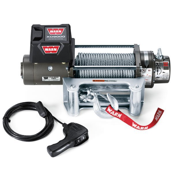 Warn Xd9000 Self Recovery Winch With Wire Rope And Roller Fairlead, 9,000 Lbs, W28500