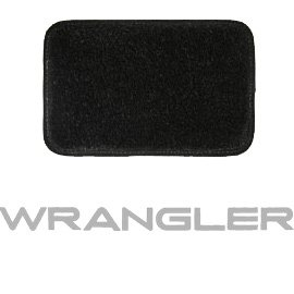 Jeep Ultimat Floor Mats Front Pair Black (With Silver Wrangler Logo), Interior Car Parts |