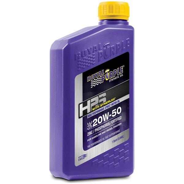 Royal Purple Hps Sae 20W-50 High Duty Street Synthetic Motor Oil With Synerlec, 1 Quart Bottle |