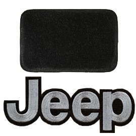 Jeep Ultimat Floor Mats Front Pair Black With Silver Logo, Interior Car Parts | 2000-2002 Wrangler