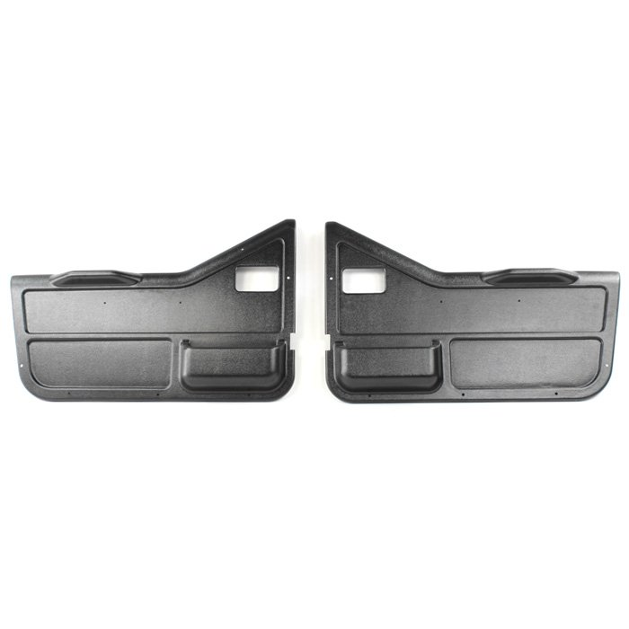 Jeep Gauge Works Replacement Door Panels, Interior, Black, Pair | 1987-1995 Wrangler YJ, GW-90-000