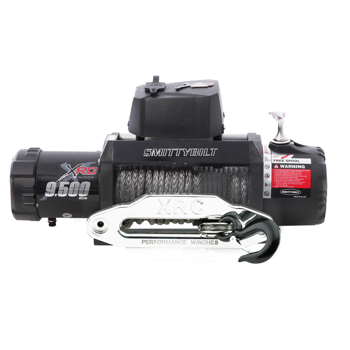 Smittybilt Xrc-9.5 Comp Gen2 Waterproof Winch With Synthetic Rope And Aluminum Fairlead, 9,500