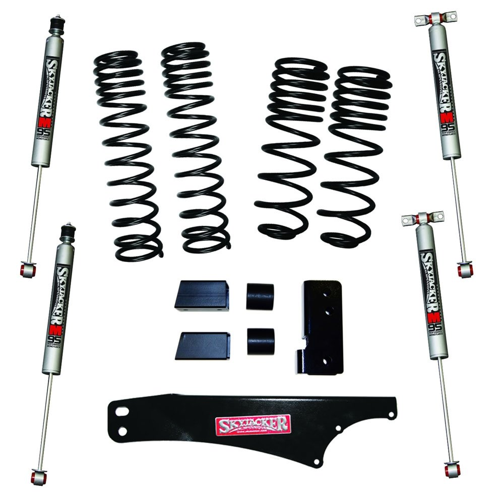 Jeep Skyjacker 2-2.5 Dual Rate Long Travel Lift Kit With M95 Monotube Shocks, Suspension Parts |