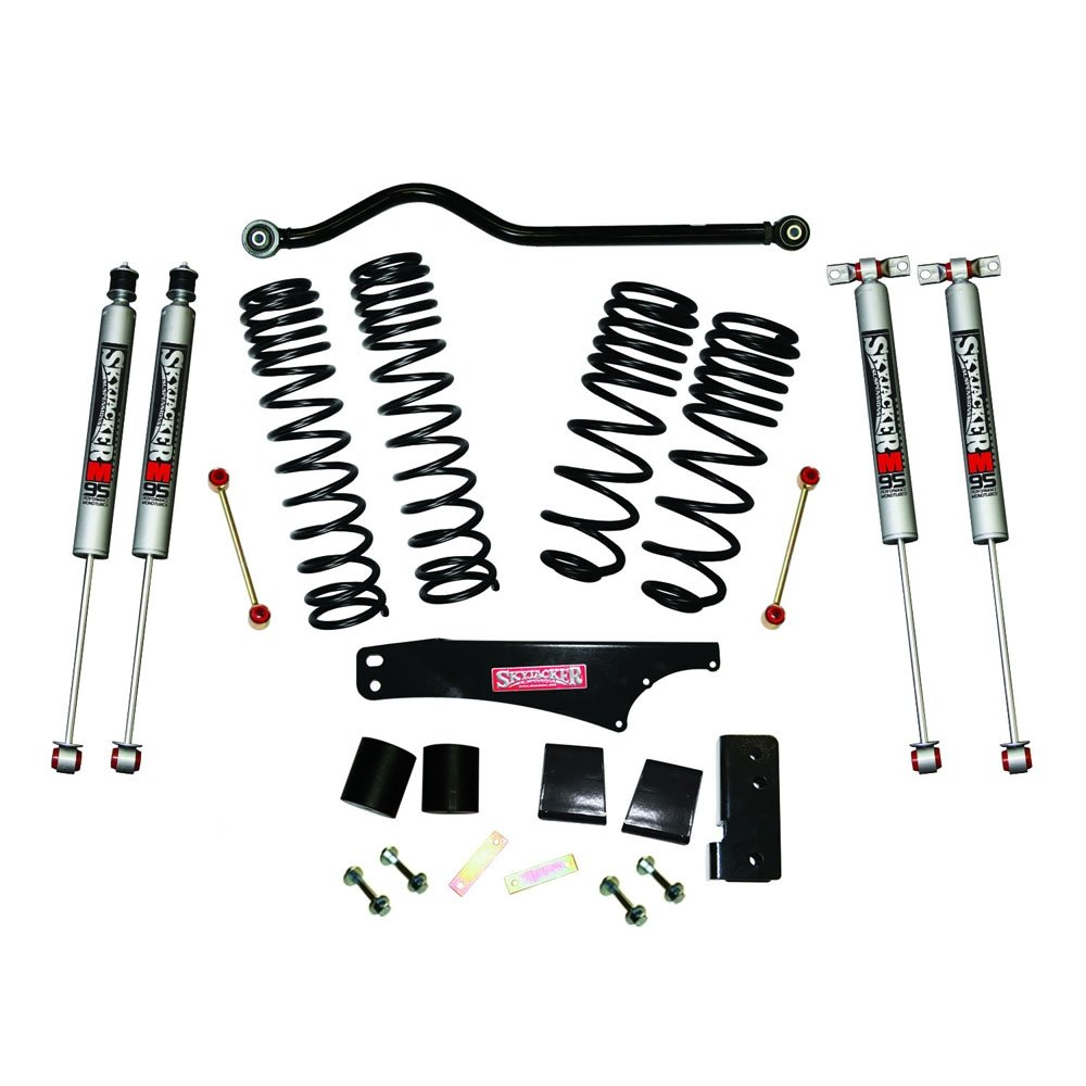 Jeep Skyjacker 3.5-4 Dual Rate Long Travel Lift Kit With M95 Monotube Shocks, Suspension Parts |