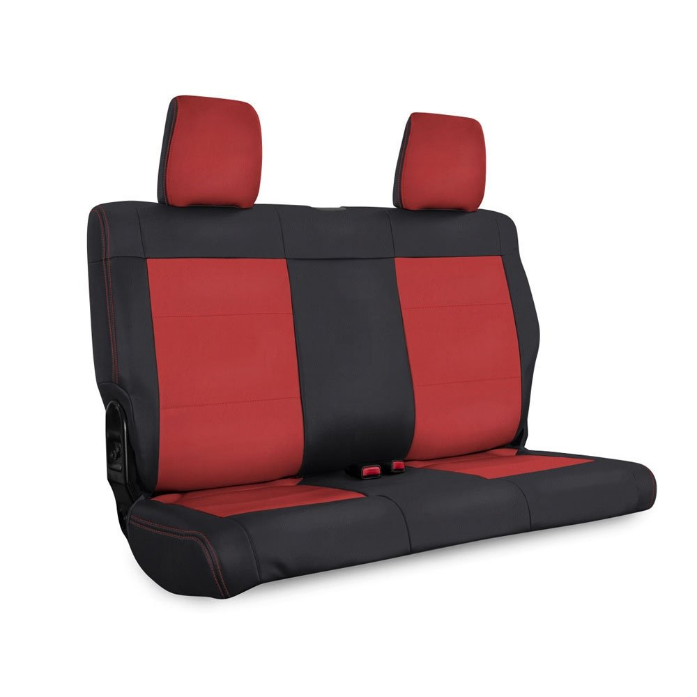 Jeep Prp Rear Seat Cover For 2007-2010 Jk & Jku, Black And Red | 2007-2010 Wrangler JK & JKU,