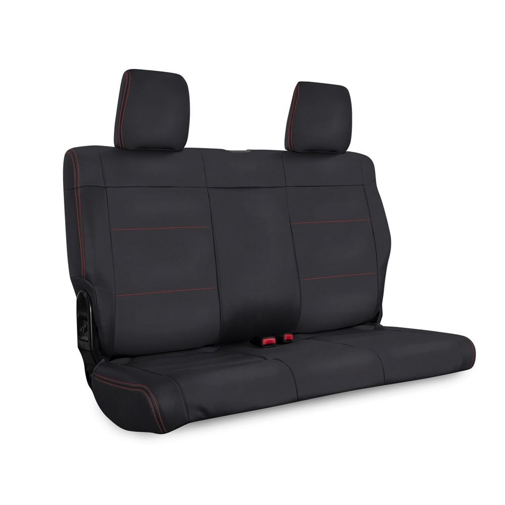 Jeep Prp Rear Seat Cover For 2011-2012 Jku, Black With Red Stitching | 2011-2012 Wrangler JKU,