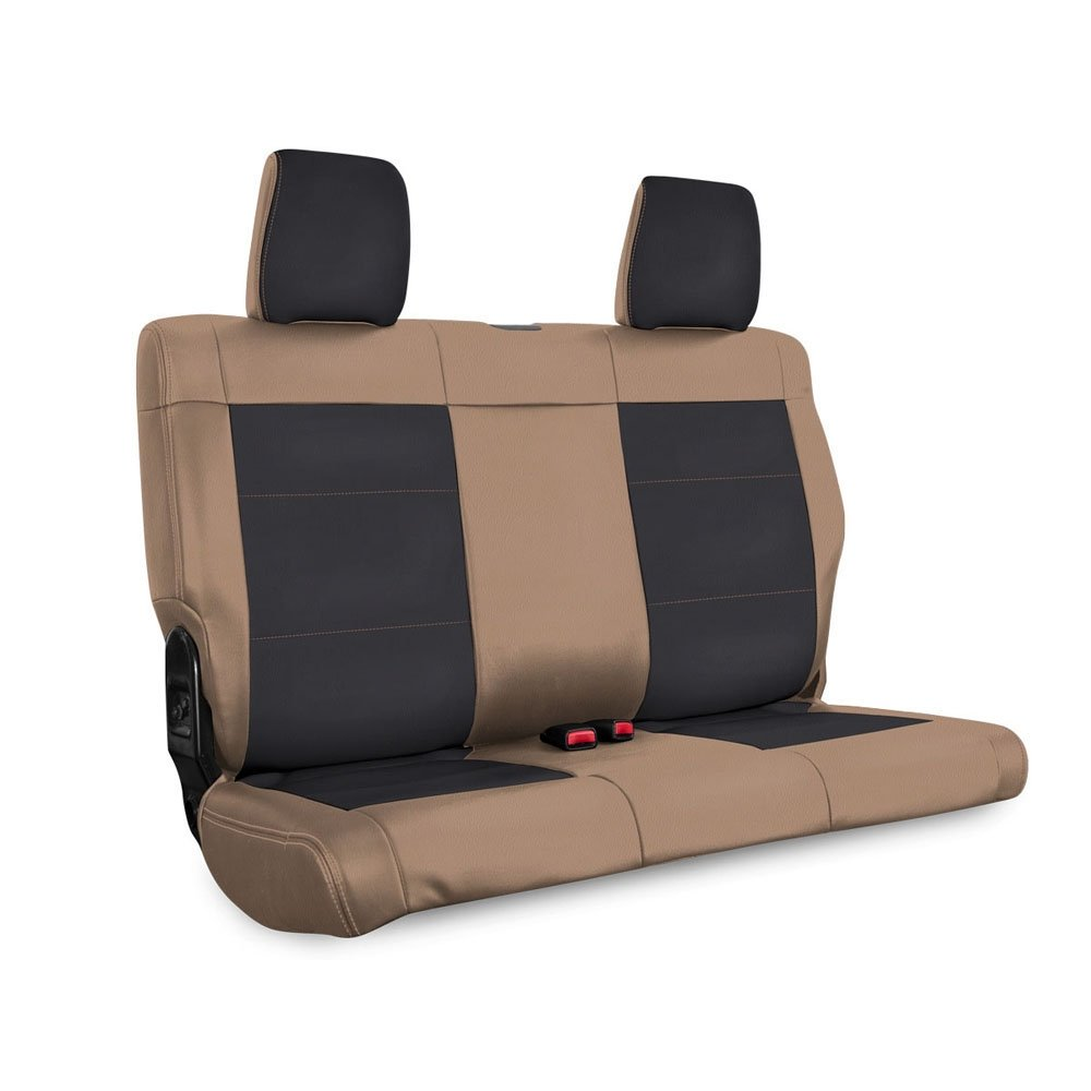 Jeep Prp Rear Seat Cover For 2011-2012 Jku, Black And Tan | 2011-2012 Wrangler JKU, PRP-B021-04