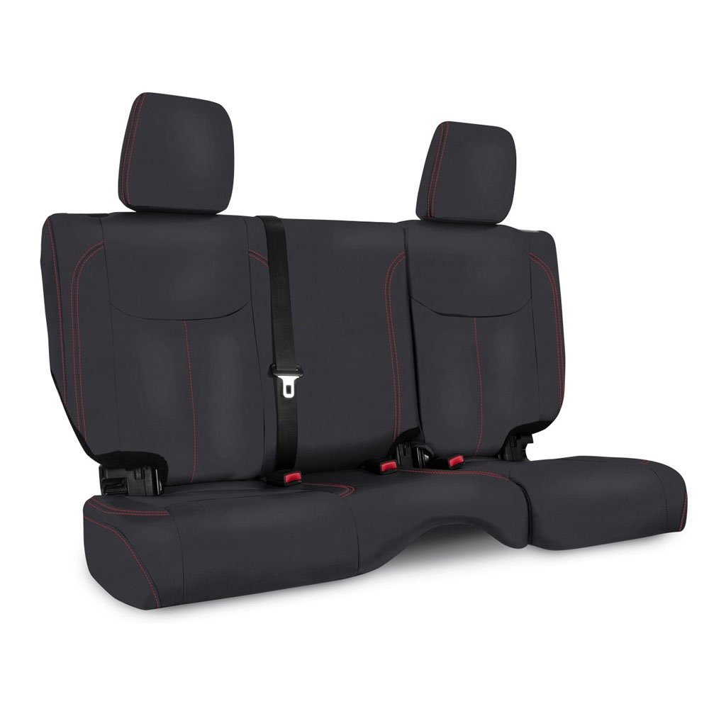 Jeep Prp Rear Seat Cover For 2013-2017 Jku, Black With Red Stitching | 2013-2017 Wrangler JKU,