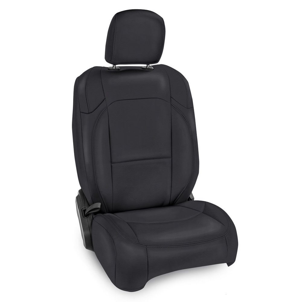 Jeep Prp Front Seat Covers With Pocket Back For Jlu 4D Non-Rubicon, Pair, Black | 2018-2019