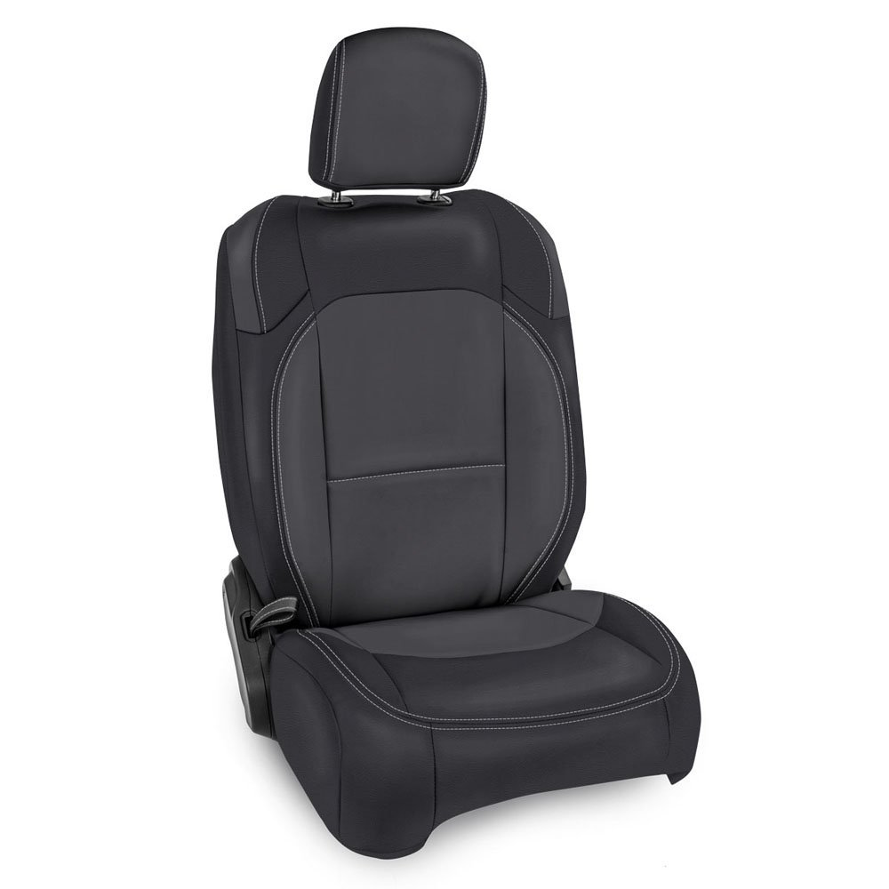 Jeep Prp Front Seat Covers With Pocket Back For Jlu 4D Non-Rubicon, Pair, Black And Grey |