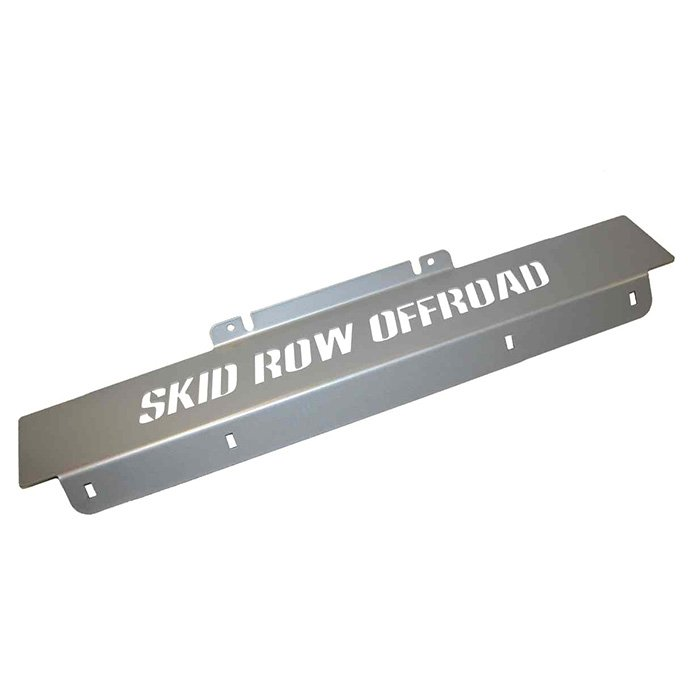 Jeep Skid Row Offroad Front Skid Plate, Silver, Exterior Car Parts | 2007-2015 Wrangler JK &