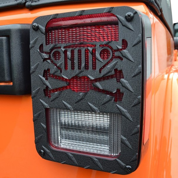 Image of Jeep Tweaks Cross Axle Tail Light Guards, Black, Pair, Exterior Car Parts | 2007-2017Wrangler JK &