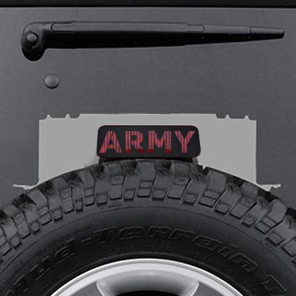 Image of Jeep Tweaks Army Third Brake Light Guard, Textured Black, Exterior Car Parts | 2007-2017Wrangler JK