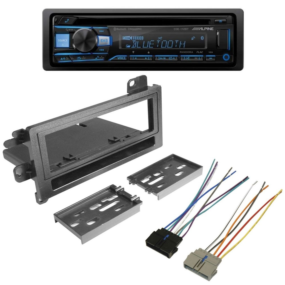 Tj Radio Kit With Alpine Cd 50Wx4 High Power Receiver And Bluetooth, Interior Car Parts | 1997-2002