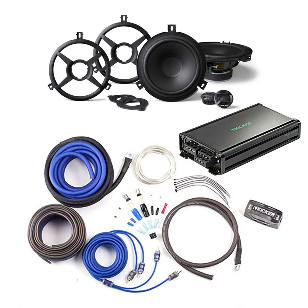 Jeep Weatherproof Audio Package With Front & Rear Alpine Convertible 6.5 Speakers And Kicker 6-Ch