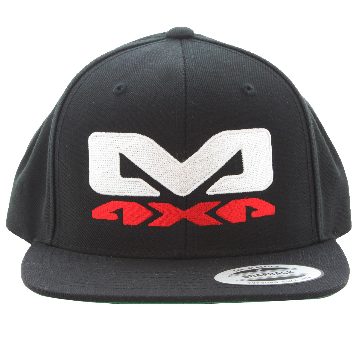 Morris 4X4 Adjustable Snapback Cap, Flat Bill, Black, Green