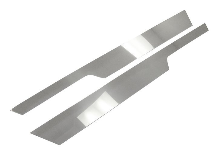 Polished stainless steel Jeep Wrangler YJ 1987//1995 non EU Grille Overlay Kit