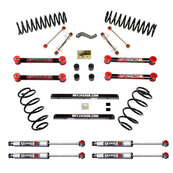 Jeep Skyjacker 4 Suspension Lift Kit With M95 Performance Monotube Shocks, Suspension Parts |