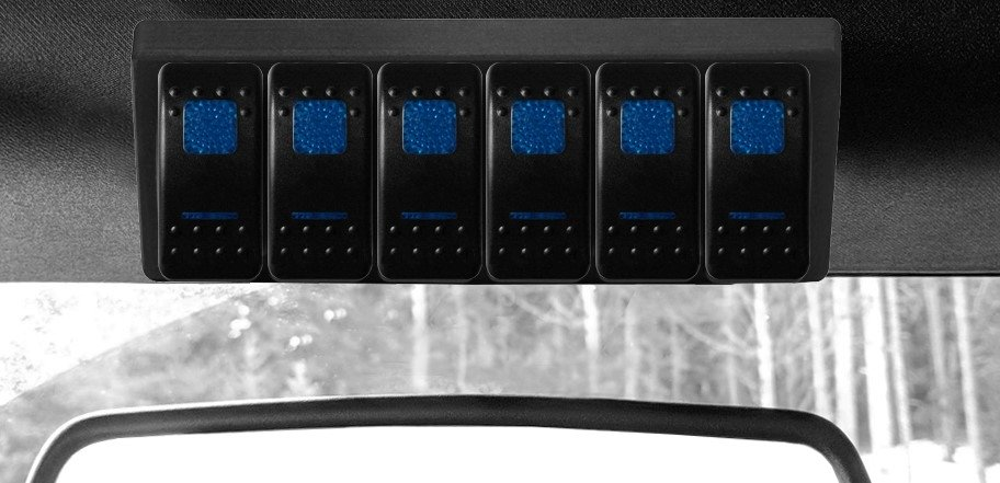 Jeep S-Tech Switch Systems 6 Position Control System For Tj With Dual Blue Led | 1997-2006 Wrangler