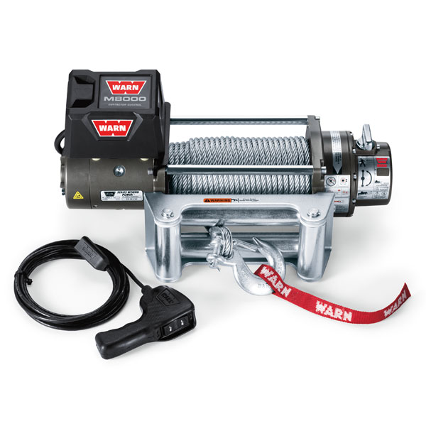 Jeep Warn M8000 Self-Recovery Winch With Wire Rope And Roller Fairlead, 8,000 Lbs., W26502