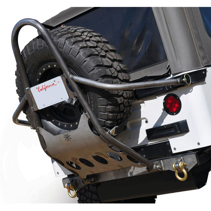 Poison Spyder Rear Stinger Tire Carrier For 1.25 Body Lift - Bare Steel