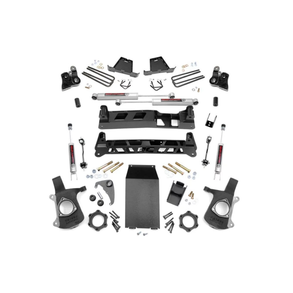 Rough Country 6 Ntd Suspension Lift Kit With Premium N3 Series Shocks, Suspension Parts  
