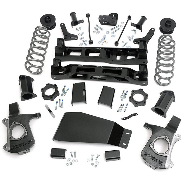 "Image of Rough Country 7.5"" Suspension Lift Kit With Premium N2.0 Series Front Lifted Struts"