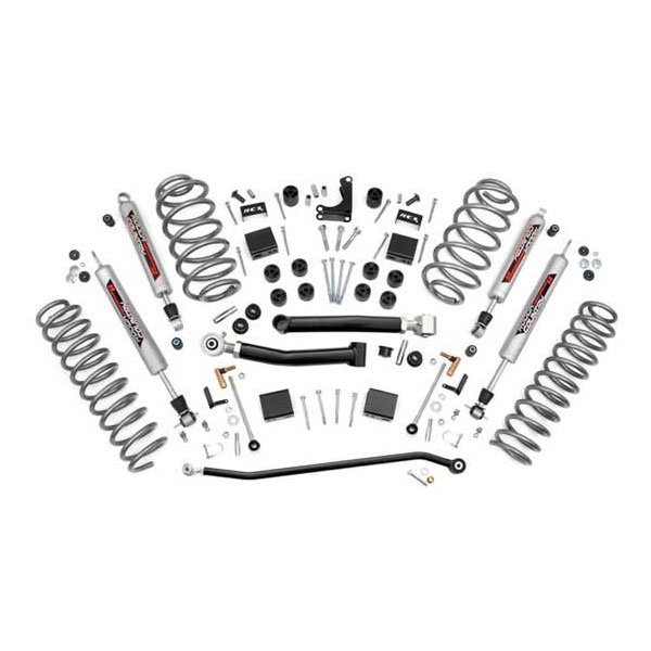 "Image of Rough Country 4"" X-Series Suspension Lift Kit With Performance 2.2 Series Shocks"